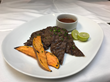 Guava BBQ'ed Skirt Steak and Sweet Potatoes