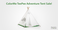 ColorMe TeePee Adventure Play Tent by Prosumer's Choice