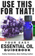 "Today Only New Aromatherapy eBook (""Use This For That"") by Kathy Heshelow is 99 Cents on Amazon."