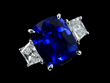 Lot 1033, An 18KT Sapphire and Diamond Ring, Realized $12,100.
