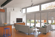 NanaWall Shades' suspended system design gives users control to use them top down, bottom up, or in-between.