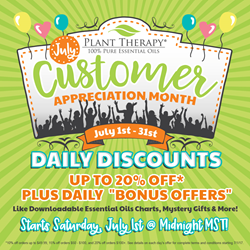 Plant Therapy July Customer Appreciation Month