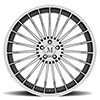 Mandrus Mercedes- Benz Wheels- the 23 in Gloss Gunmetal w/ Mirror Cut Face