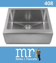 The 408 apron bar sink will be available in August