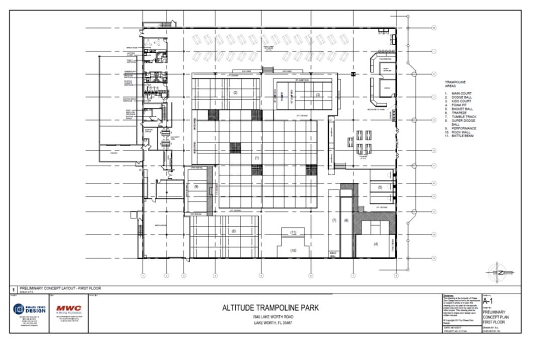 Altitude trampoline park lake worth fl for Trademark quality homes floor plans