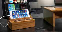 Bamboo 3 rack multi-device charging station