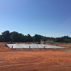 Foundation for the Mooresville Super-Sod store near Lake Norman in North Carolina