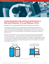 See how Windows 10 S fared in two tests from the Microsoft Performance Assessment Kit