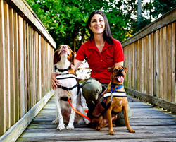 Jamie Katz finds lost pets with the help of her tracking dogs, Fletcher and Gable.