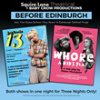 Squire Lane Theatrical and Baby Crow Productions Present a Three Night Run of their Edinburgh Festival Fringe Productions in New York City