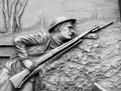 North Carolina Veterans Memorial--Scene 1 from WWI. Credit: https://www.flickr.com/photos/universalpops/5633572420/