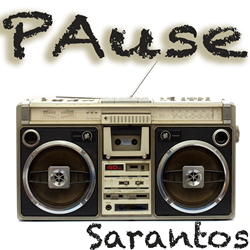 Sarantos song artwork PAuse solo music artist Voice of Chicago new pop rock release Pause Charity