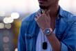 Helios 42 Timepiece in Gold Blue