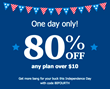 Sizzling 4th of July Deal from Tello: 80% Off for New Mobile Plans