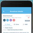 SchoolMessenger app broadcast