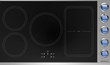 BlueStar 36-inch Induction Cooktop with Blue Knobs