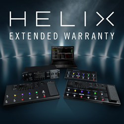 Line 6 Helix products now have an extended warranty