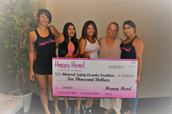 Happy Head donates $10,000 to help end human trafficking