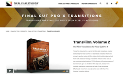 FCPX Effects - Pixel Film Studios Plugins - TransFilm Volume 2