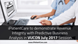 iPatientCare to demonstrate Revenue Integrity with Predictive Business Analysis in VUCON July 2017 Session