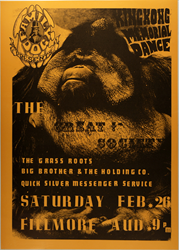 Family Dog FD-2 King Kong Memorial Dance Concert poster