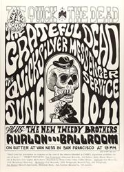 Family Dog FD-12 Grateful Dead Avalon Ballroom 6/10/66 concert poster