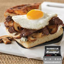 Mushroom barbecue breakfast