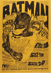 $30,000 Reward Announced for Bill Graham BG-2 Batman Fillmore Auditorium 3/18/66 Concert Poster by Psychedelic Art Exchange