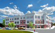 A rendering of the Bristol Hospital ACC shows how the building will appear when viewed from the intersection of Main Street and Riverside Avenue.
