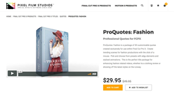 ProQuotes Fashion - Pixel Film Studios Effects - FCPX Plugins and Effects