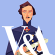 A gif of Prince Albert, founder of the V&A Museum in London, where visitors can play the new Secret Seekers game