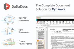 PDF editor for Microsoft Dynamics 365, e-Signature, form generator, form builder, Microsoft Dynamics 365, DaDaDocs, PDFfiller