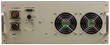 The rear of the Behlman RUPS-1250 UPS unit has  mil- type connectors for Input, Output, Data/Alarms and a Battery Connector for optional external battery.