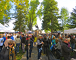 A crowd of art lovers gather in Jackson's Town Square every year for Jackson Hole Fall Arts Festival events, including for this year's Sept. 6 – 17, 2017, festival.