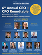 Becker's Healthcare to Host 6th Annual CEO + CFO Roundtable from November 13 - 15, 2017 in Chicago IL