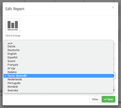 Select the Language for Your Report