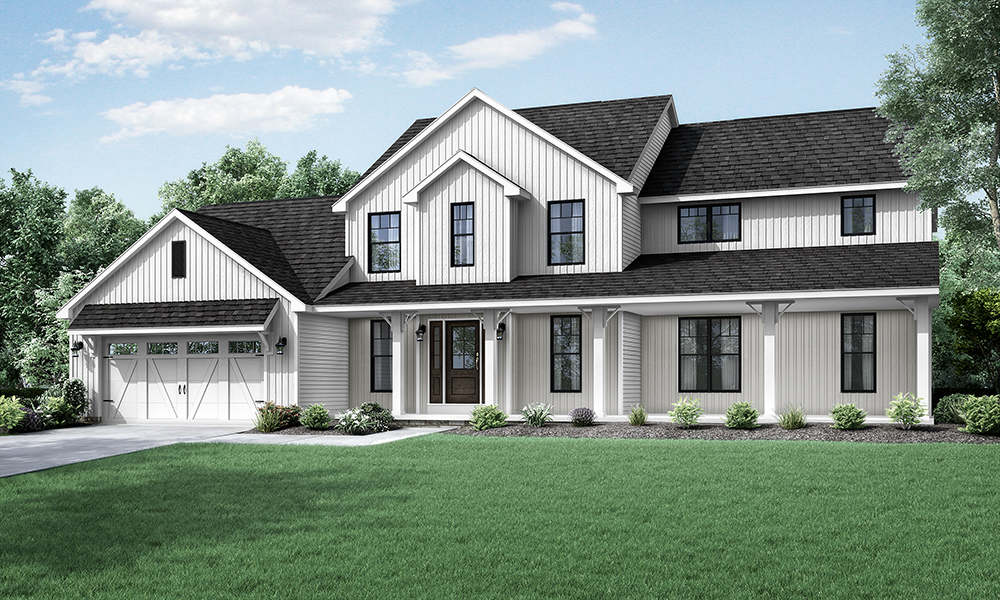 Wayne homes introduces new two story floorplan the columbia for New two story homes