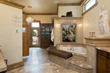 Villa Ingenieux Master Bath with jacuzzi tub, shower, sauna and heated floor.