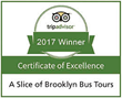 Trip Advisor Certificate of Excellence A Slice of Brooklyn