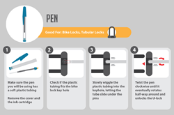 Lock Picking with Everyday Items Infographic