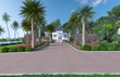 Front Entrance with beautiful tropical landscaping.