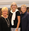 (L-R): Holly K. Benedict, director of public affairs and development, HOW; Susan Yubas, board chair;  Mary K. Spengler, MS, chief executive officer, HOW