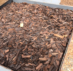 Torrefied wood chips