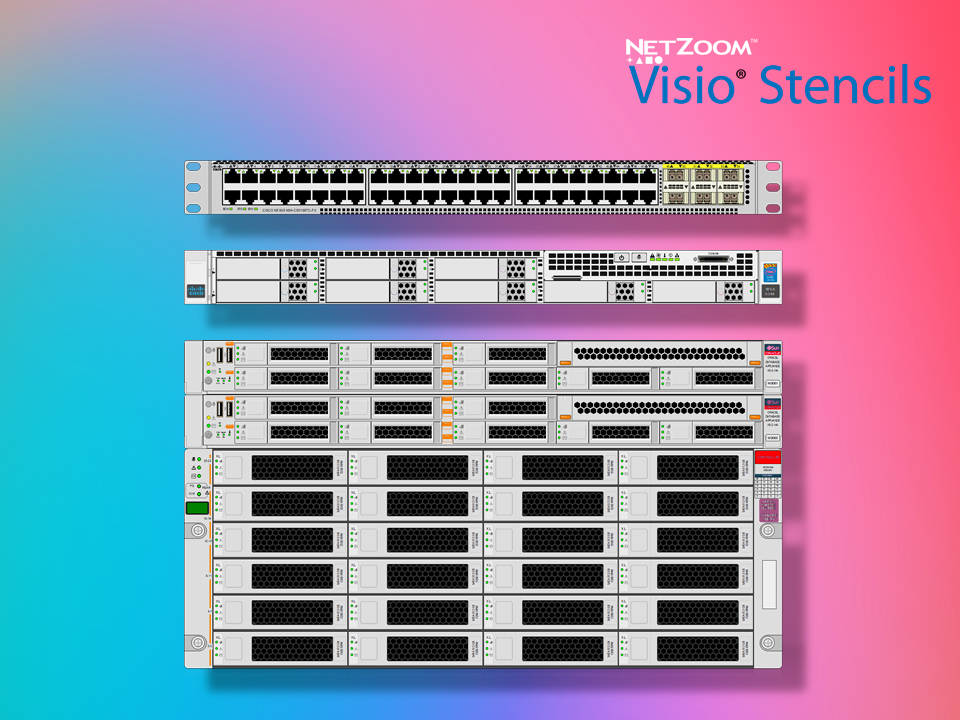 NetZoom™ Visio® Stencils Library Updated for Data Center and Network ...