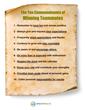 10 Commandments of Teammates