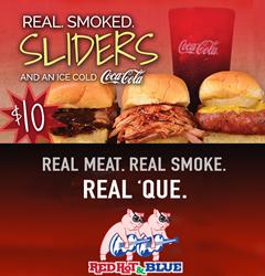 Taste-test Summer Sliders at Red Hot & Blue BBQ