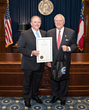 Jason Moss, CEO of the Georgia Manufacturing Alliance, Receives Buy From GA Proclamation from Governor Deal