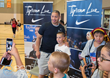 Head Coach of The Cleveland Cavaliers, Tyronn Lue (L) poses for pictures with youth participants at The 2017 Tyronn Lue Fantasy Youth Clinic & Experience