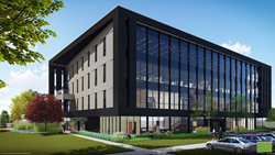 Rendering of Core Bank's new headquarters at 17807 Burke Street in Omaha, NE