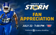 Florida Hospital Presents 2017 'Fan Appreciation Night' as the Tampa Bay Storm Take on the Cleveland Gladiators